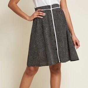 ModCloth Black & White Polka Dot Skirt Super RARE